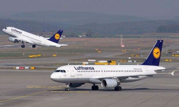 """""""Lufthansa"""" shënon 1,5 miliardë euro humbje neto në tremujorin e dytë"""