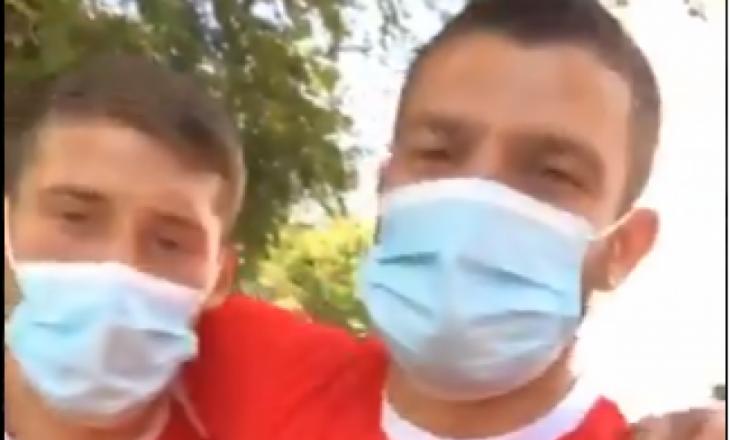 Berisha e Zeneli mesazh Vojvodës: Daj le Arbërin me jep gol sot (VIDEO)