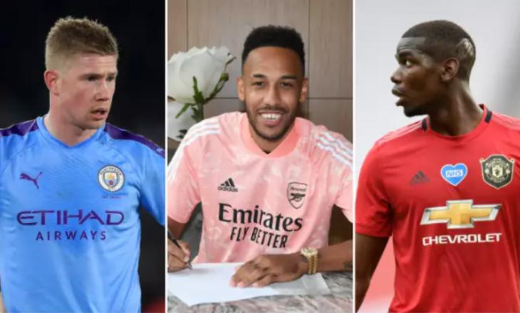 Këta janë 10 lojtarët më të paguar në Premier Ligë pas mega-kontratës së Aubameyang