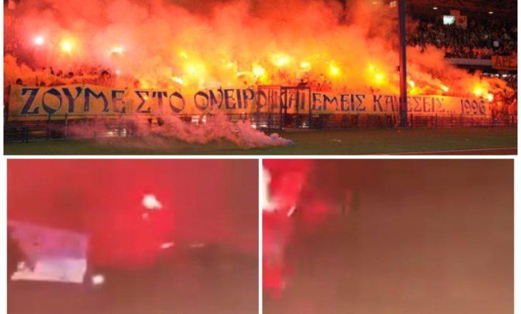 """E turpshme: Tifozët e Apoelit presin Cervena Zvezdën me mesazhin """"Kosova është Serbi"""""""